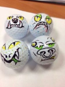 golf ball art