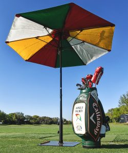 Arnold Palmer's bag on the range