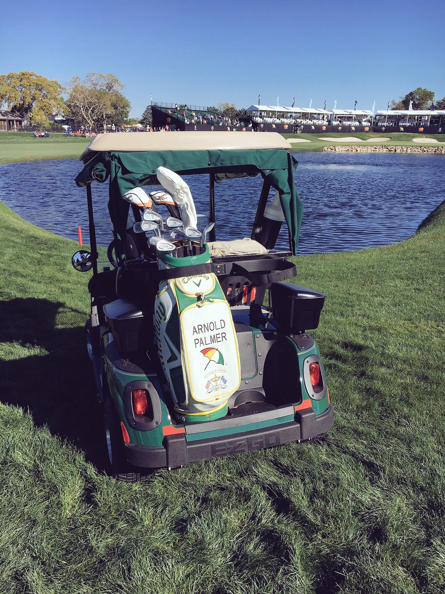 arnold palmer's golf cart on 16th hole