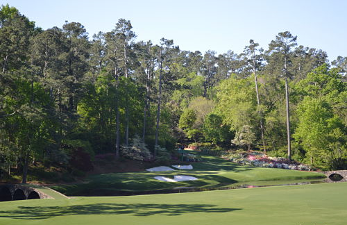 Augusta National 12th green