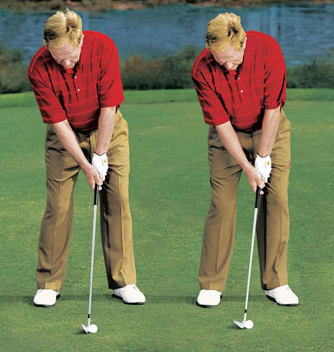 jack nicklaus iron setup position