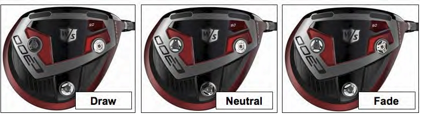 Wilson Staff c300 driver weight positions