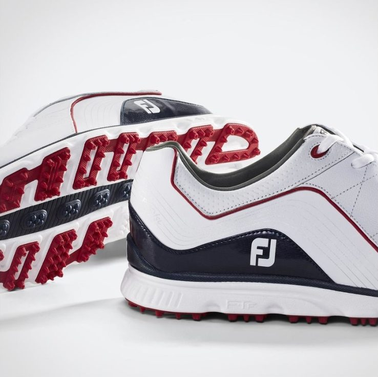 footjoy pro sl white navy red