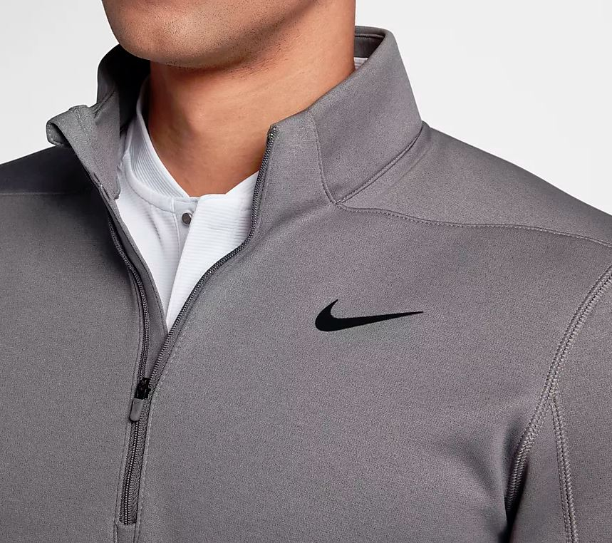 nike therma repel 1/2 zip grey