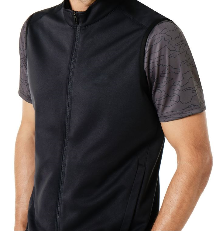oakley range full zip vest black