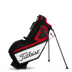 titleist players 5 stand bag red black white